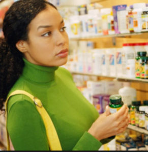 choosing-vitamins-lady